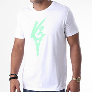 Da Uzi - Tee Shirt Logo Blanc Vert Fluo