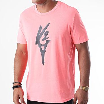 Da Uzi - Tee Shirt Logo Rose Noir