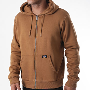 Dickies - Sweat Zippé Capuche New Kingsley DK0A4X8H Marron