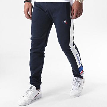 Le Coq Sportif - Pantalon Jogging A Bandes Tricolore Slim N1 2020521 Bleu Marine