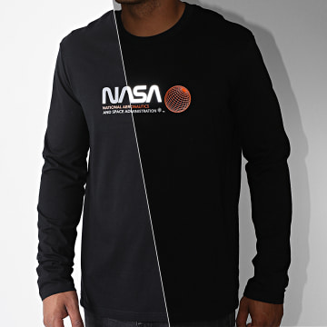 NASA - Tee Shirt Manches Longues Reflective Space Admin Noir