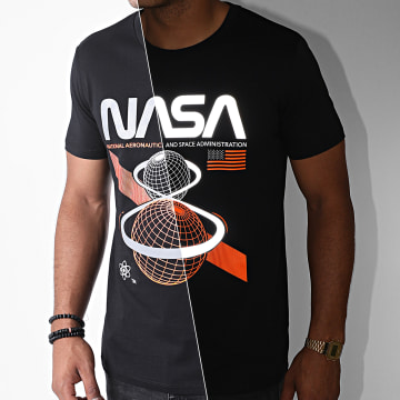NASA - Tee Shirt Reflective Front Space Admin Noir