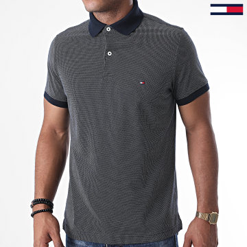 Tommy Hilfiger - Polo Manches Courtes Two Tones Textured 1457 Bleu Marine
