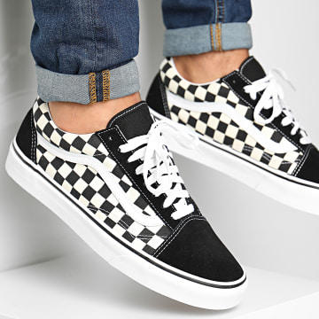 Vans - Baskets Primary Check Old Skool A38GAP0S1 Black White