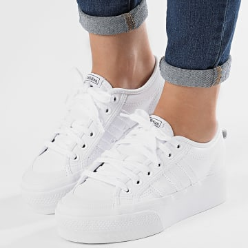 Adidas Originals - Baskets Femme Nizza Platform FW0265 Footwear White Core Black