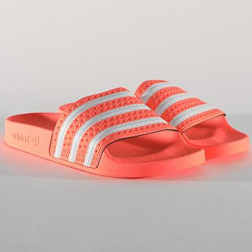 Adidas Originals - Claquettes Femme Adilette EG5008 Orange Fluo
