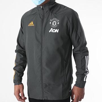 Adidas Performance - Veste Zippée Manchester United FC Presentation FR3661 Vert Kaki
