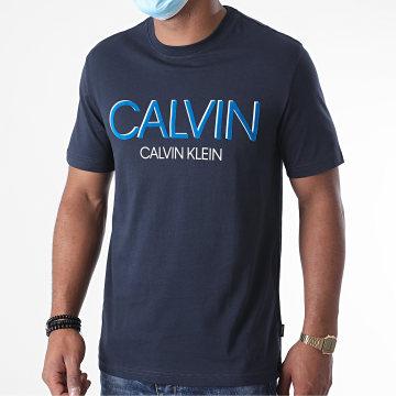 Calvin Klein - Tee Shirt Shadow Logo 5569 Bleu Marine