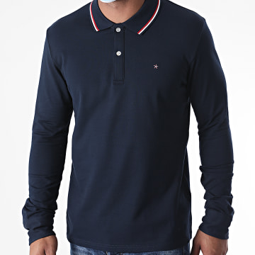 Celio - Polo Manches Longues Necetwo Bleu Marine
