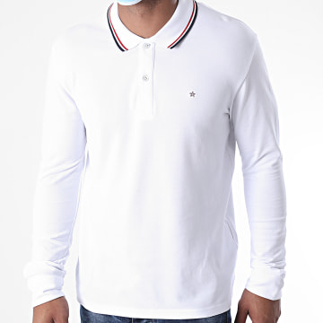 Celio - Polo Manches Longues Necetwo Blanc