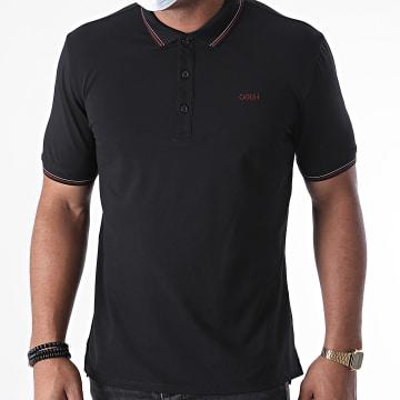 HUGO - Polo Manches Courtes Reverse Logo Dinoso 204 50437298 Noir