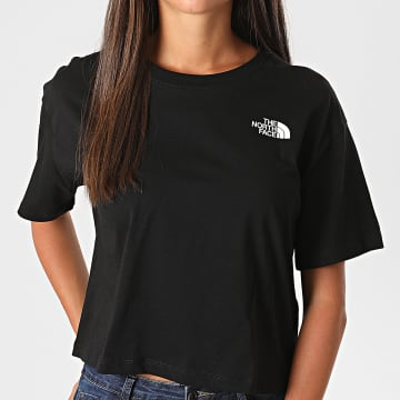 The North Face - Tee Shirt Femme Crop Simple Dome SYCJ Noir