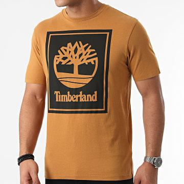 Timberland - Tee Shirt Stack Logo A2AJ1 Marron