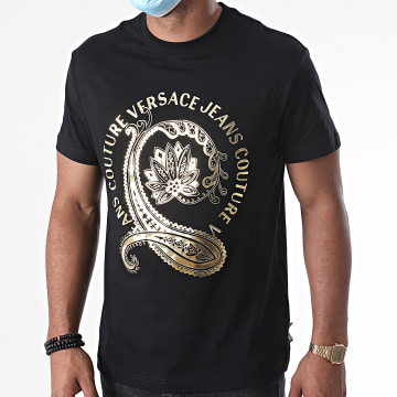 Versace Jeans Couture - Tee Shirt 9 Foil B3GZA7EA-30311 Noir Doré
