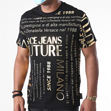 Versace Jeans Couture - Tee Shirt Garanzia Mix B3GZA7TL-30319 Noir Doré
