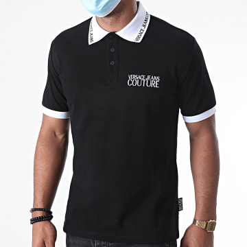 Versace Jeans Couture - Polo Manches Courtes Logo Embroidery B3GZA72T-36571 Noir