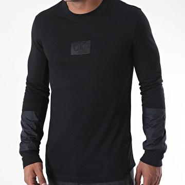 Calvin Klein - Tee Shirt Manches Longues Mixed Media 5605 Noir