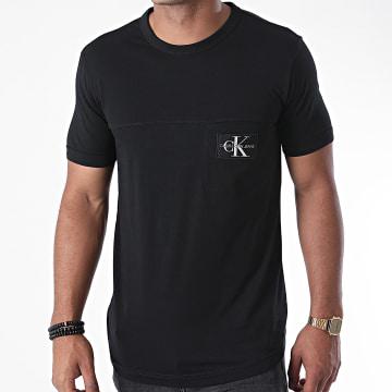 Calvin Klein - Tee Shirt Poche Monogram Badge 5612 Noir