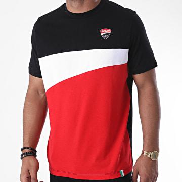 Ducati - Tee Shirt Tricolore DU2036001 Noir Rouge Blanc