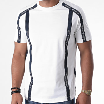 Emporio Armani - Tee Shirt 6H1TG4-1JTUZ Blanc Bleu Marine