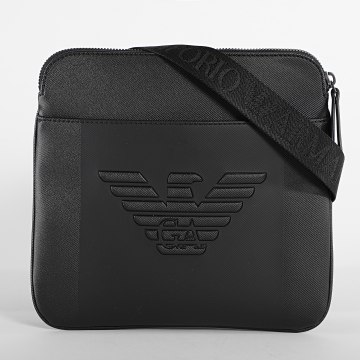 Emporio Armani - Sacoche Flat Messenger Y4M177-YFE6J Noir
