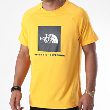 The North Face - Tee Shirt Raglan Red Box A3BQO Jaune