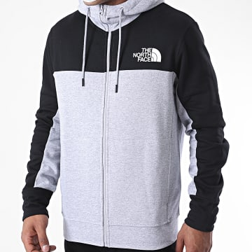 The North Face - Sweat Zippé Capuche Himalayan A4SWM Gris Chiné Noir