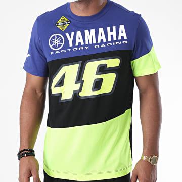 Yamaha - Tee Shirt YDMT394909 Noir Bleu Marine Jaune Fluo
