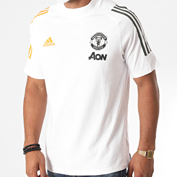 Adidas Performance - Tee Shirt A Bandes Manchester United FC FR3650 Blanc