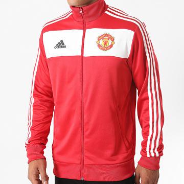 Adidas Performance - Veste De Sport A Bandes Manchester United FC FR3849 Rouge