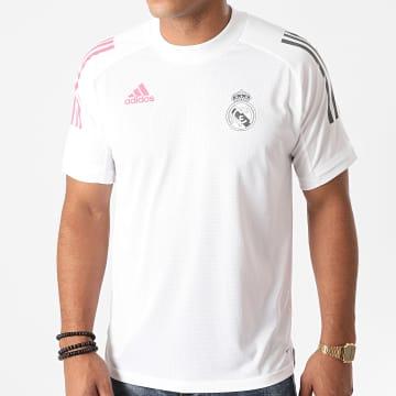 Adidas Performance - Tee Shirt De Sport A Bandes Real FQ7851 Blanc