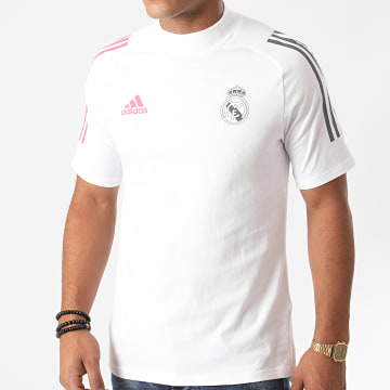 Adidas Performance - Tee Shirt A Bandes Real FQ7872 Blanc