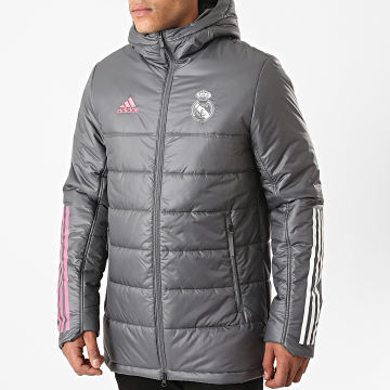 Adidas Performance - Doudoune Capuche Real Winter FQ7869 Gris