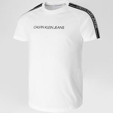 Calvin Klein - Tee Shirt A Bandes Logo Tape Shoulder 5983 Blanc