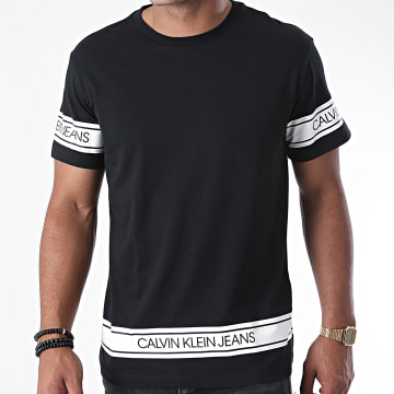 Calvin Klein - Tee Shirt Fashion Logo Tape 6048 Noir