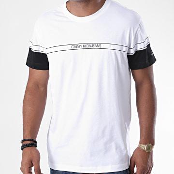 Calvin Klein - Tee Shirt Blocking Logo Tape 6334 Blanc