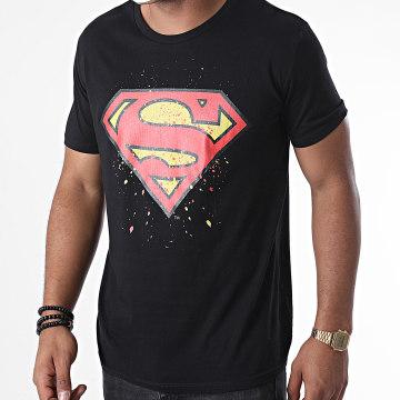 DC Comics - Tee Shirt Superman Splatter Noir