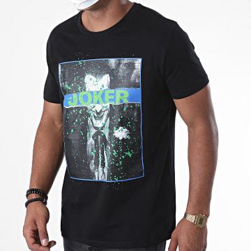 DC Comics - Tee Shirt Joker Splatter Noir