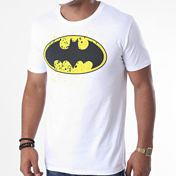 DC Comics - Tee Shirt Batman Splatter Blanc