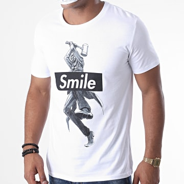 DC Comics - Tee Shirt Joker Smile Blanc