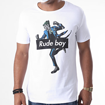 DC Comics - Tee Shirt Joker Rude Boy Blanc