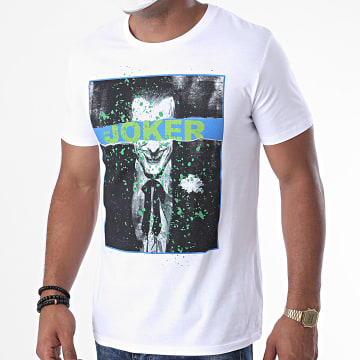 DC Comics - Tee Shirt Batman Splatter 2 Blanc