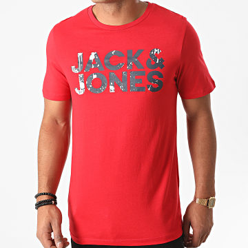 Jack And Jones - Tee Shirt Splash Corp Logo Rouge