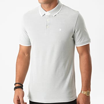 Jack And Jones - Polo Manches Courtes Paulos Vert Clair Chiné