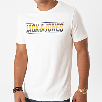Jack And Jones - Tee Shirt Slim Meta Ecru