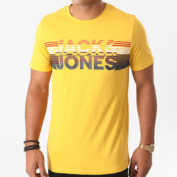 Jack And Jones - Tee Shirt Slim Meta Jaune