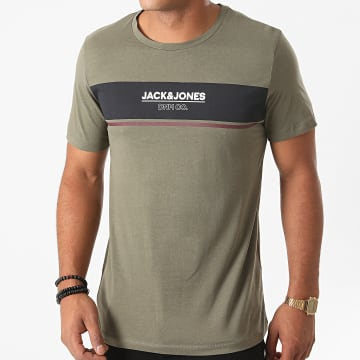 Jack And Jones - Tee Shirt Slim Shaker Vert Kaki