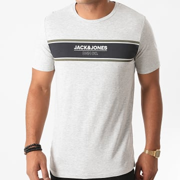 Jack And Jones - Tee Shirt Slim Shaker Gris Chiné