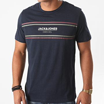 Jack And Jones - Tee Shirt Slim Shaker Bleu Marine