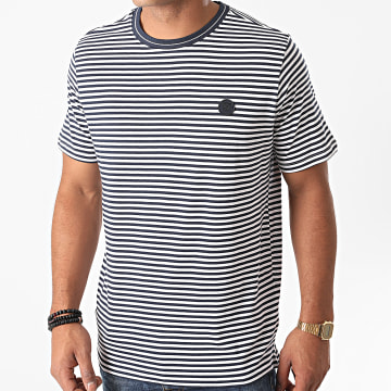 Jack And Jones - Tee Shirt A Rayures Blamorgan Noir Blanc